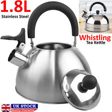 Whistling Kettle Stainless Steel Teapot Stovetop Fast Boil Water Coffee 1.8L