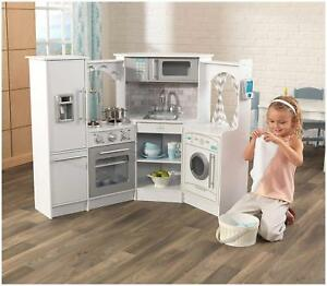 Kidkraft Ultimate Corner Play Kitchen with Sounds and Lights - White Version