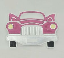 GiftCraft Classic Car Stepping Stone or Wall Plaque Glow in the Dark Hot Pink