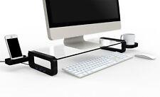 Smart Monitor Stand with USB2.0 Hub, Black