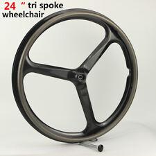 24 inch Tri Spoke Wheels Wheelchair Rims 24 Carbon Fiber Wheels Wheelchair