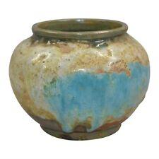Vintage Pewabic Pottery Volcanic Drip Glaze Vase