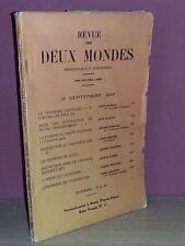 Revue Des Deux Mondes Sept. 1942 Madelin Gillouin Duhamel Siegfried Chastenet