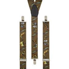 Clip de disparo caza marrón en Pantalón Tirantes Elástico Tirantes Hecho A Mano Reino Unido