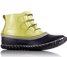 Sorel Out N About Leather Lace Up Duck Booties $115 Size 8 # M2 92 NEW