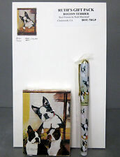 New Boston Terrier Dog Playing Card Pen & Note Pad Ruth Gift Set Terriers Dogs