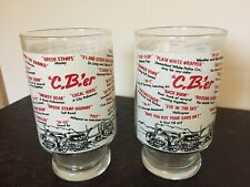 2 Vintage CB-er Glasses Mug Trucker Talk Jargon 7""