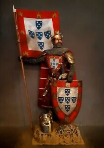 "12"" CUSTOM AFONSO III KING OF PORTUGAL,  MEDIEVAL KNIGHT 1/6 FIGURE IGNITE"