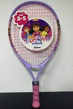 "WILSON 19"" Inch Youth Tennis Racket Dora 2-5 yrs Racquet 3.5"" Grip, Pink/Purple"