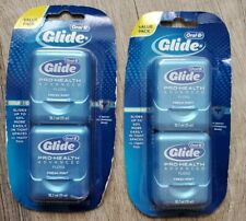 Oral-B Glide Pro-Health Advanced Floss Fresh Mint 2 Packs of 2 New Sealed