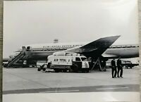 Photo ancienne 1963 KLM Royal Dutch Airlines ,Orly,Air Total, Signée, timbre