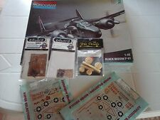 P61 BLACK WIDOW 1/48 SCALE MODEL MONOGRAM+2 DECALS+2PHOTOETCHED+RESIN WHEEL SET
