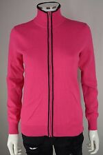 Polo Golf Ralph Lauren Womens S Small Full Zip Knit Pink Sweater Jacket New NWT