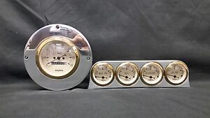 1949 1950 FORD CAR GAUGE CLUSTER GOLD