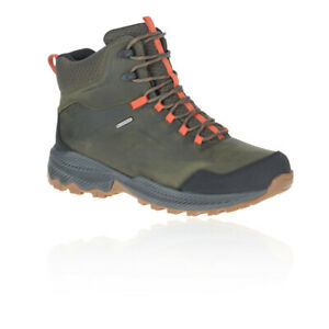 Merrell Mens Forestbound Mid Waterproof Walking Boots Green Sports Outdoors