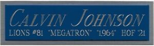 CALVIN JOHNSON LIONS NAMEPLATE AUTOGRAPHED Signed Football HELMET JERSEY PHOTO