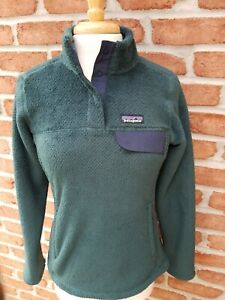 Patagonia Womens Small Re'Tool Snap T Pullover. Piki Green.