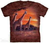 Sundown Kids T-Shirt by The Mountain. African Giraffe Tee Sizes S-XL Youth NEW