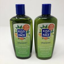 Kiss My Face Whenever Shampoo & Conditioner 11 oz Green Tea & Lime NEW All Hair