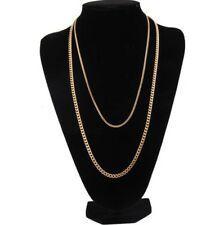 Unisex Men Punk Hip Hop Jewelry Stainless Steel Cuban Link Chain Choker Necklace