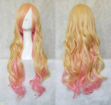 Macross Series Sheryl Nome 80CM Blond/Pink Wave Cosplay US Seller Fast Ship NEW