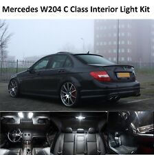Premium MERCEDES CLASSE C W204 Interior pieno LAMPADINE LED BIANCO LUCE Kit Set