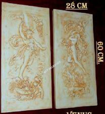 2 X RELIEF VENUS PROMETHEUS FLACHRELIEF GRIECHISCHE WANDRELIEF WANDBILD BILD