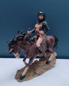 Resin Horse And Nude Lady Rider Figurine Home Decor