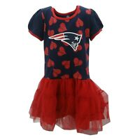 New England Patriots Official NFL Apparel Youth Kids Girls Size Dress with Skirt