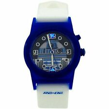 "Star Wars Boys Analogue R2-D2 ""Flashing Lights"" White Rubber Strap Watch RTD3206"