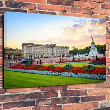 "Buckingham Palace Famiglia Reale STAMPA FOTO SU TELA A1.30""x20"" 30mm Deep"