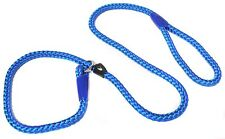 Heritage Nylon Rope Slip Lead 2 Tone Blue 1.22m X12mm Sz 4-8 681240