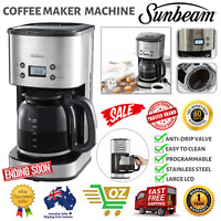 Sunbeam Aroma Drip Filter Coffee Maker Automatic Machine Non Stick Stainless New