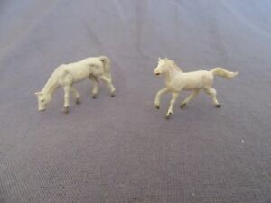 687F Toy Old Starlux 2 Horses White