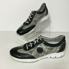MEPHISTO Runoff Air Jet System Womens 9.5 Shoes Black Leather Snake