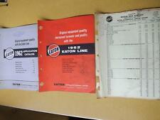 EATON AUTOMOTIVE CANADA APPLICATION CATALOG LINE & DEALER PRICE LIST PARTS 1962