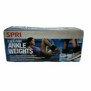 SPRI 2.5 lbs Adjustable Ankle Weight Set  - 5 lbs Total - Comfort Fit