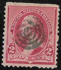 2v0362 Scott 220 US Stamp 1890 2c Washington Used Bullseye Cancel