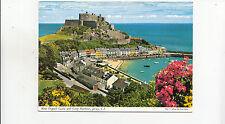 BF25036 mont orgueil castle and gorey harbour   jersey  CI UK  front/back image