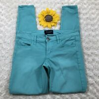 American Eagle Womens Jegging Pants Size 0 Stretch Skinny Ankle Teal es704