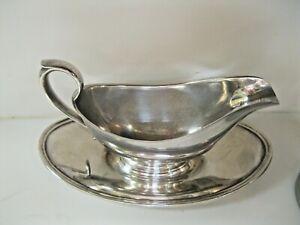 Vintage Gorham Silver Plate Gravy Boat YC430