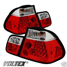 2002-2005 BMW E46 3 SERIES 4DR LED TAIL LIGHT BAR LIGHTBAR RED CLEAR