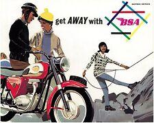 BSA Brochure A65 A50 K1 C15 SS80 B40 D7 USA East Coast 1964 Sales Catalog REPRO