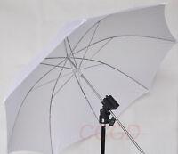 "Flash Light Stand Bracket + White Diffuser Umbrella+ 1/4"" to 3/8"" Screw Adapter"