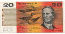 185 Australia 1974 Phillips/Wheeler General Prefix 20 Twenty Dollar Note gF-aVF