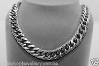Gents Chain Figaro 1x1 Close Style 143g Oxidise Sterling Solid 925 Silver 17""
