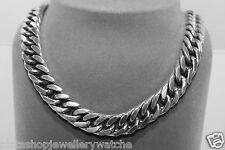 """Gents Chain Figaro 1x1 Close Style 143g Oxidise Sterling Solid 925 Silver 17"""""""