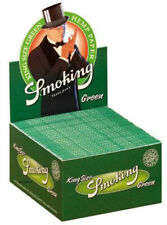 1 Box Smoking GREEN Slim King Size Papers - 50 Heftchen x 33 Blättchen Hanf Grün