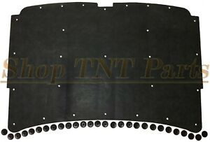 "1981-93 Dodge Ram Truck Hood Insulation w/ Clips 1/2"" Low Profile"