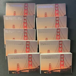 2018-S Sealed box (10) 2018 Silver Reverse Proof Sets First Strike Eligible